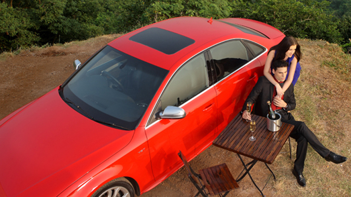 Impress your date with your style and Audi S4