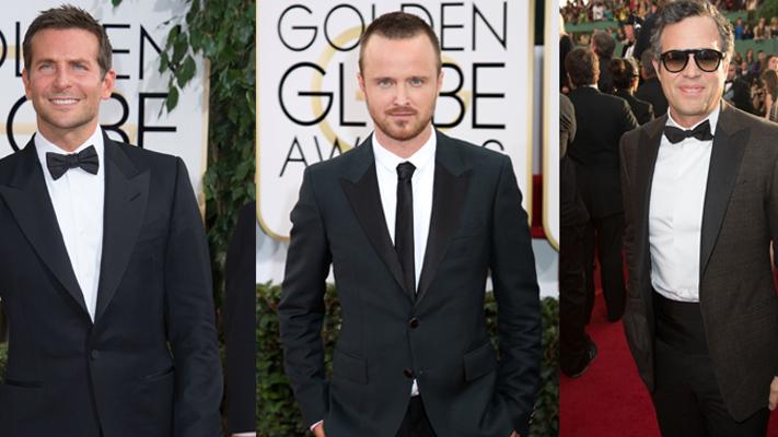 Best dressed men at the Golden Globes-Bradley Cooper, Aaron Paul, Mark Ruffalo