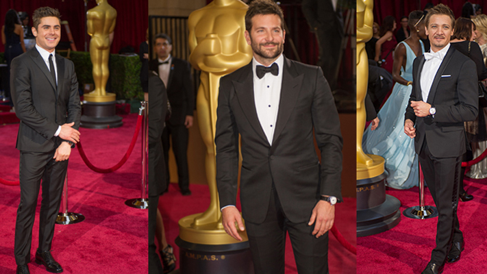 Menswear trends at oscars 2014 zac efron bradley cooper jeremy renner