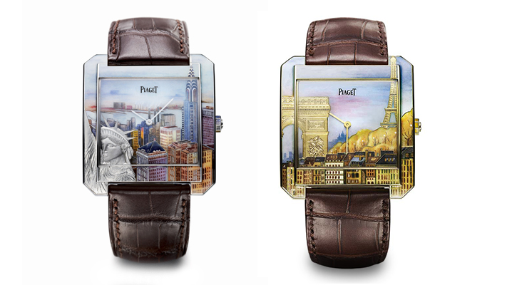 Watches used for exploring Piaget Protocole-xxl in enamel