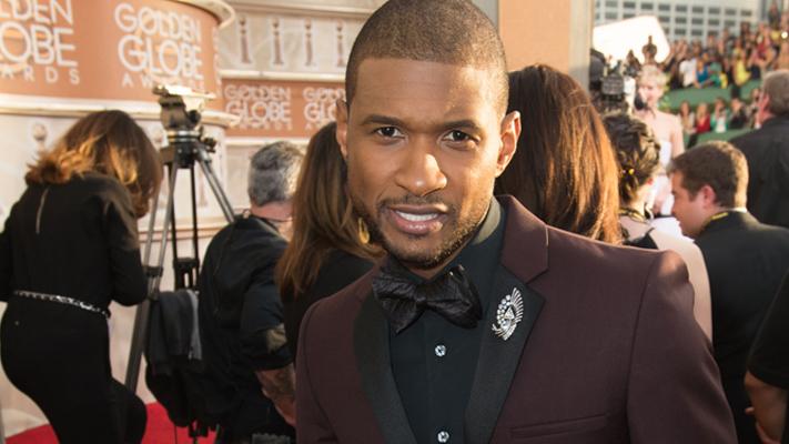 Best dressed men at the Golden Globes-Usher