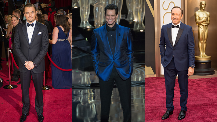 Mens fashion at oscars kevin spacey jim carrey leonardo dicaprio