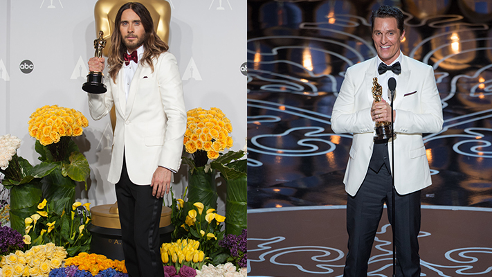Mens fashion at oscars 2014 jared leto matthew mcconaughey
