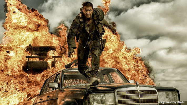 Action thriller Mad Max Fury Road with Tom Hardy