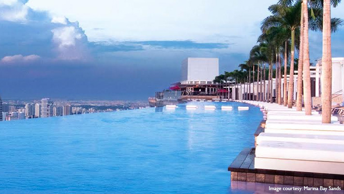 Marina bay Sands infinity pool offers thrilling view of Singapore