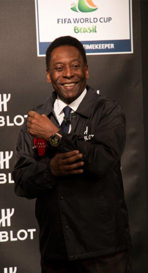 Pele presenting 2014 fifa world cup official watch