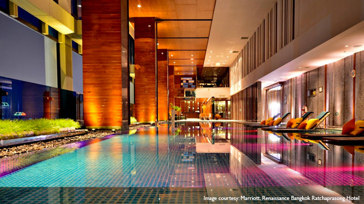 Renaissance Ratchaprasong Hotel the best indoor infinity pool at bangkok
