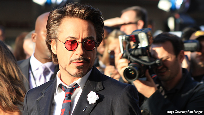 Robert Downey Jr can rock any look
