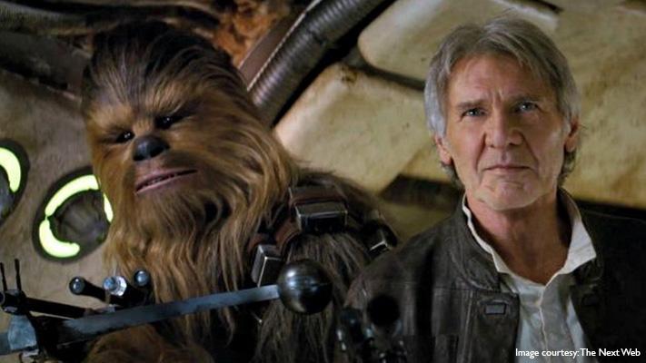 Star Wars The Force Awakens George Lucas space saga