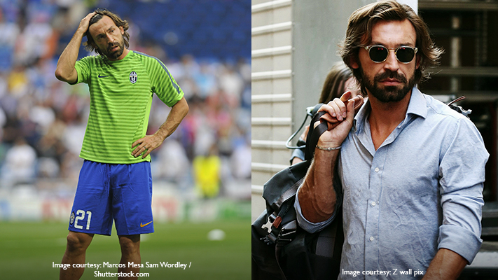 andrea pirlo casual & hot fashion sense
