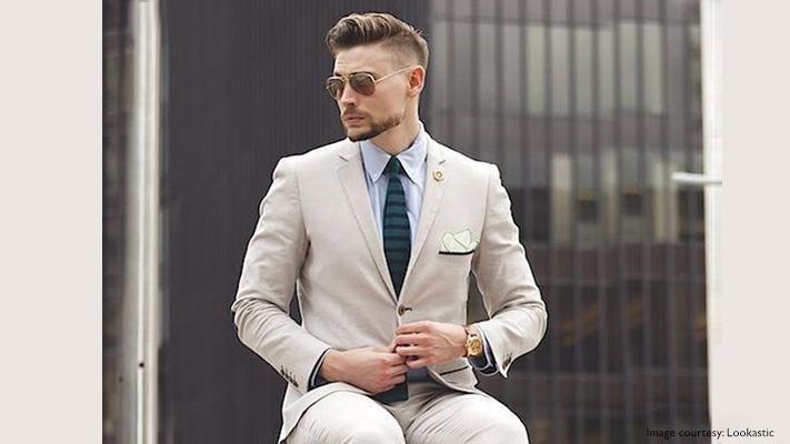 beige suit summer style