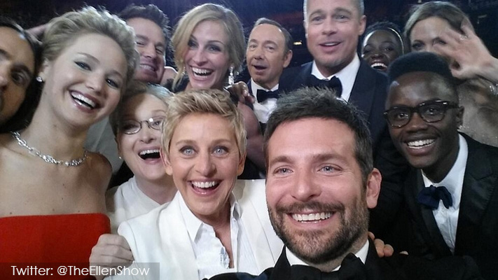 best celebrity selfies of 2014