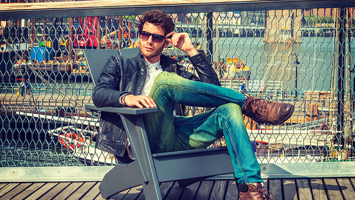blue jeans grunge look