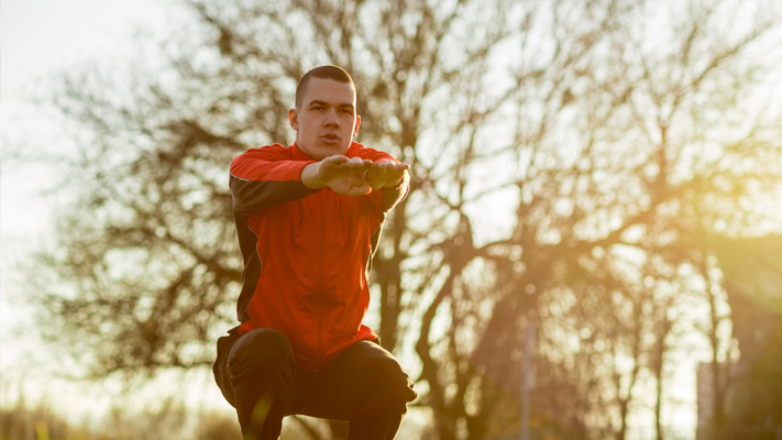 bodyweight squat exercise to do at home