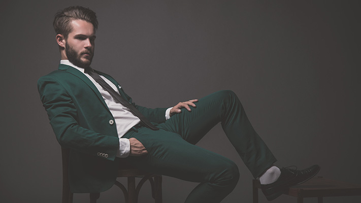 bold green blazer green outfit
