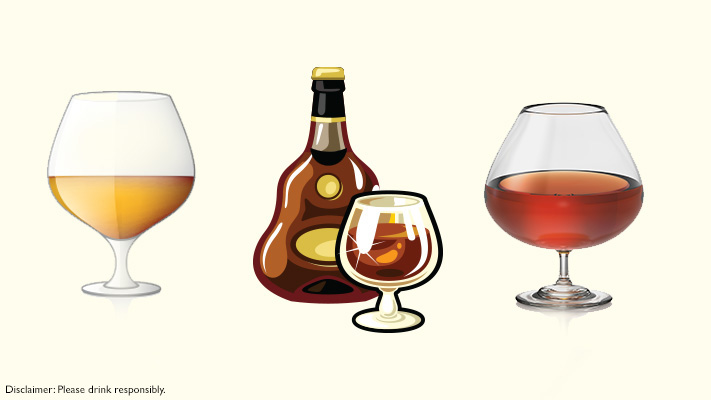 brandy snifter or balloon glasses