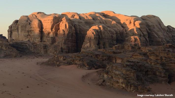 breath taking view of wadi rum jordan
