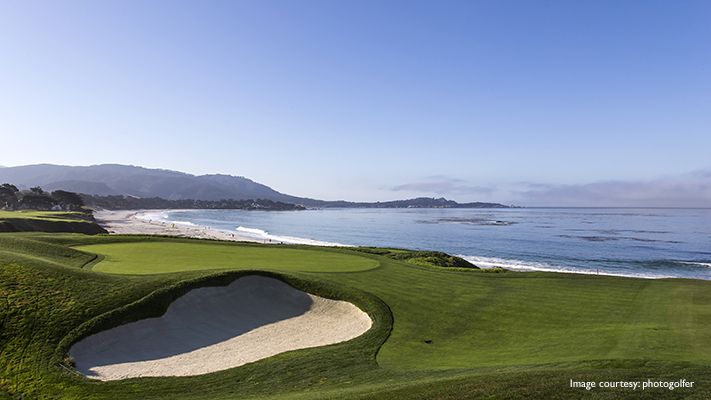 breathtaking view of pebble beach golf link