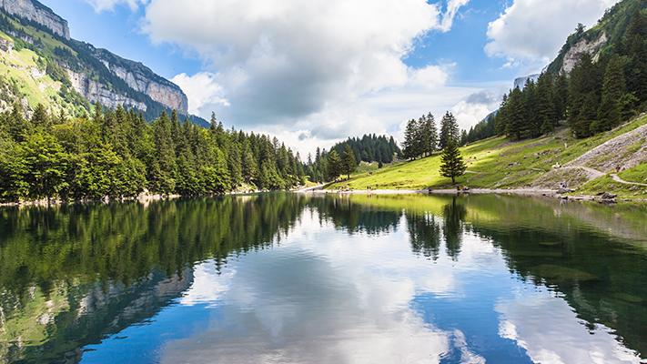 breathtaking view of switzerland natural beauty