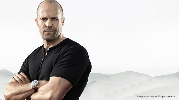 catch jason statham in a smart casual wear