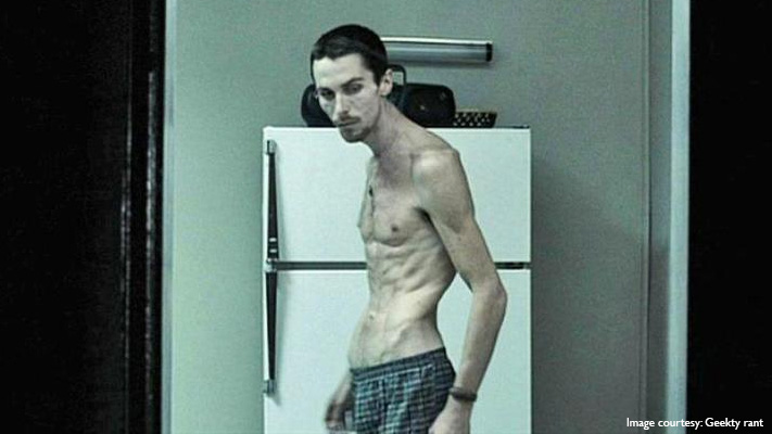 christian bale skeleton look the machinist