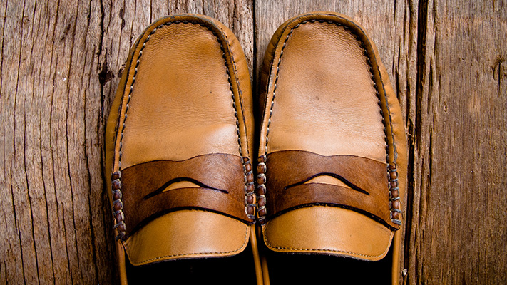 classic brown loafers shoes stylish look
