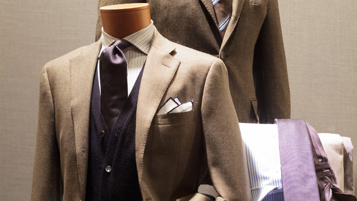 classic double breasted suit jacket