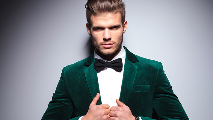classic green suit style