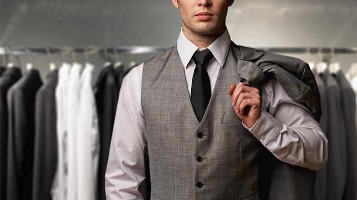 classic grey three piece suit