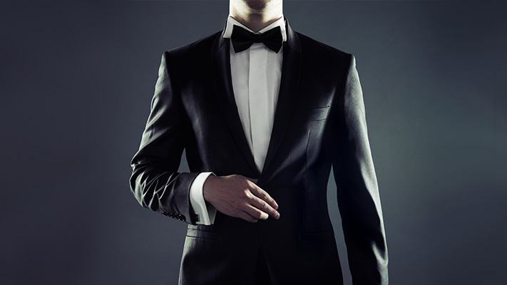 classic tuxedo jacket for black tie look