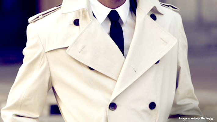 classic white trench coat winter outfit