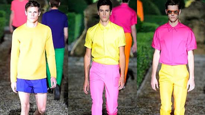Colour Blocking fashion for men