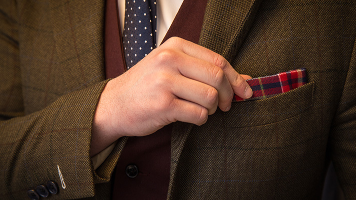coloured pocket square