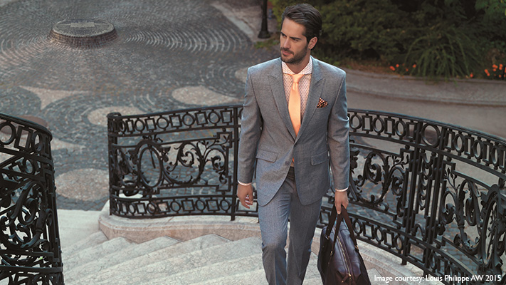 cool autumn shirt grey suits stylish look