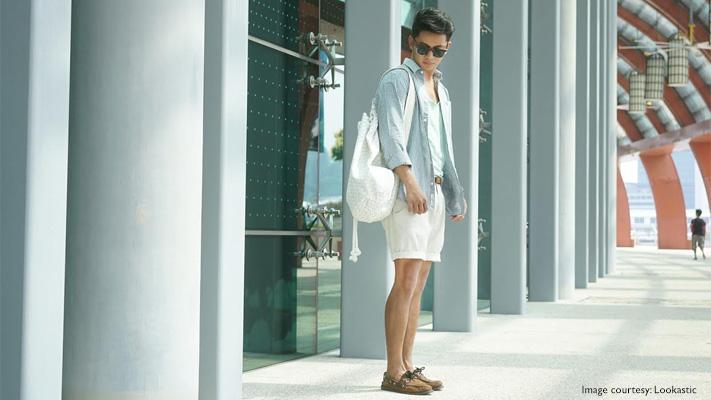 cream shorts summer fashion