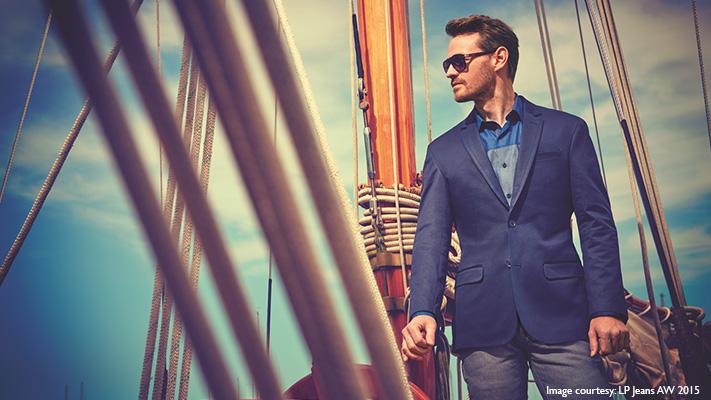 denim blazer cool business leisure look