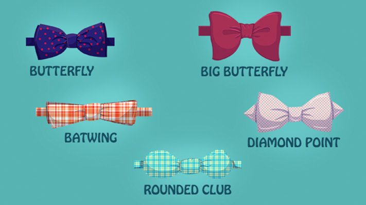 different types of bow ties wearing occasions