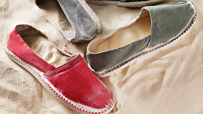 espadrilles are made out of jute canvas that are light and sleek