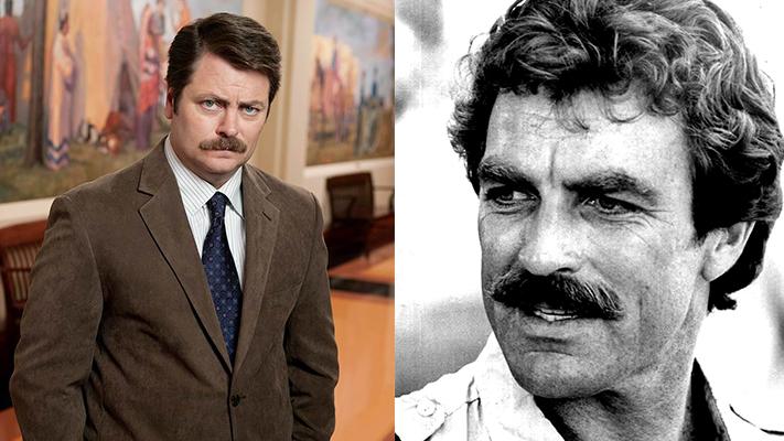 Famous movie Moustaches