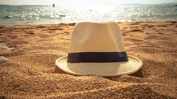fedora hat to carry holidaying at tropical destination