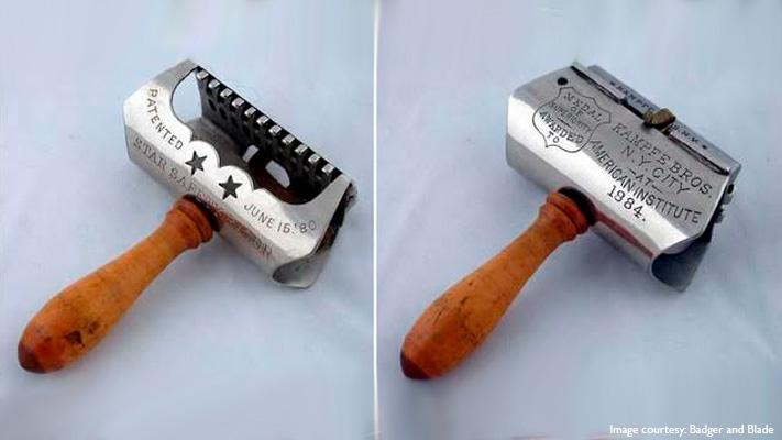 first safety razor blade