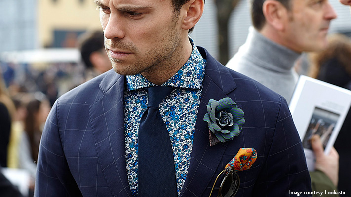 floral shirt and tie for men