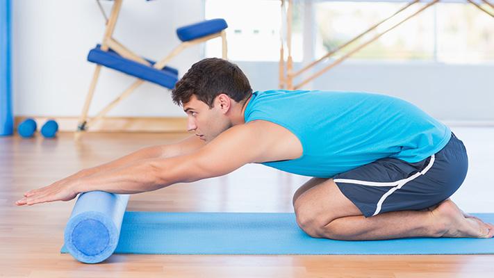 foam rolling workout for men