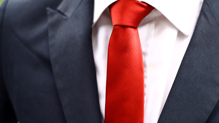 get a tie sophisticated banker outfit