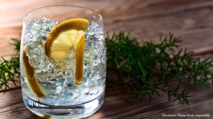 glass of gin on kangaroo island