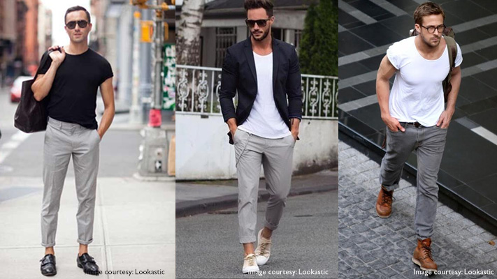 grey trousers traditional neutral colour