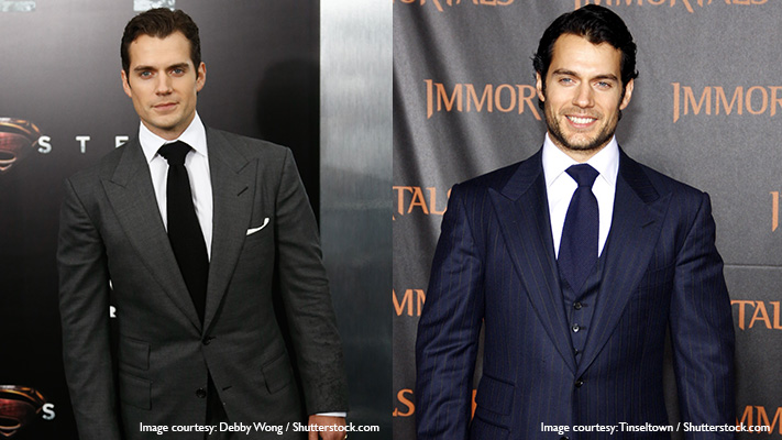 henry cavil in fashionable suit