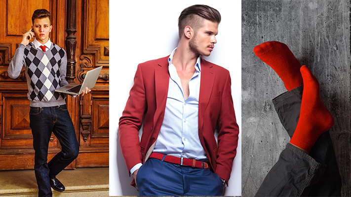 how to carry red colour with panache