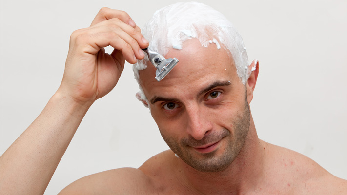 how to go bald