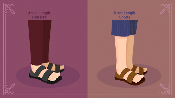 how to pair sandals with trousers shorts